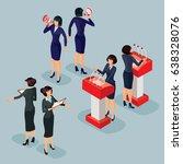 illustration isometric people... | Shutterstock . vector #638328076