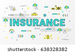 insurance info graphic concept. ... | Shutterstock .eps vector #638328382
