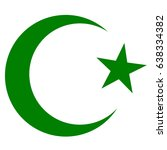 symbol of islam  crescent and... | Shutterstock .eps vector #638334382