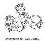 mother driving with daughter  ... | Shutterstock .eps vector #63833857