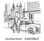 new york taxi service   retro... | Shutterstock .eps vector #63833863