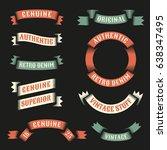 original vintage ribbons for...   Shutterstock .eps vector #638347495