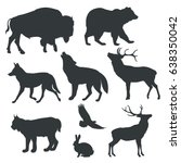 Stock vector vector images figures of animals on white background 638350042