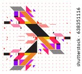 trendy geometric elements... | Shutterstock .eps vector #638351116