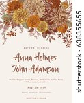 wedding invitation. summer and... | Shutterstock .eps vector #638355655