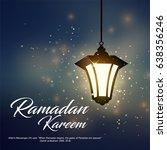 ramadan kareem greeting ...   Shutterstock . vector #638356246