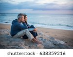 beautiful couple sitting on a... | Shutterstock . vector #638359216