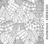 seamless pattern for coloring... | Shutterstock .eps vector #638361262