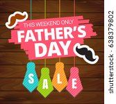 father's day sale offer.... | Shutterstock .eps vector #638379802