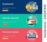 business and finance conceptual ... | Shutterstock .eps vector #638387845