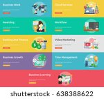 business and finance conceptual ... | Shutterstock .eps vector #638388622