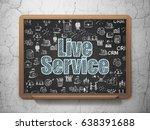 finance concept  chalk blue...   Shutterstock . vector #638391688