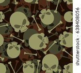 skull and bones military... | Shutterstock . vector #638408056