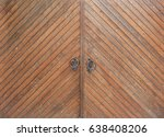 Wooden Gate With Iron Handles ...