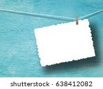 blank postcard frame against... | Shutterstock . vector #638412082