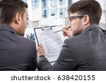 back view of successful... | Shutterstock . vector #638420155