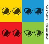 colorful sunglasses | Shutterstock .eps vector #638425492