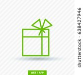 gift box line vector icon | Shutterstock .eps vector #638427946