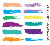 paint brushes lines on the... | Shutterstock .eps vector #638435185
