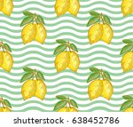 elegant seamless pattern with... | Shutterstock . vector #638452786