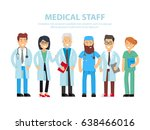 team of doctors  nurses and... | Shutterstock .eps vector #638466016