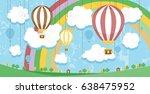 surreal landscape . vector... | Shutterstock .eps vector #638475952