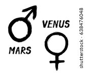 mars and venus   grunge signs... | Shutterstock .eps vector #638476048