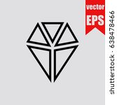 diamond icon infographic... | Shutterstock .eps vector #638478466