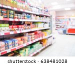 abstract blurred supermarket... | Shutterstock . vector #638481028