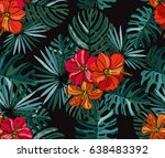 elegant seamless pattern with... | Shutterstock . vector #638483392