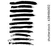 ink vector brush strokes set.... | Shutterstock .eps vector #638486002