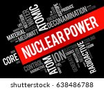 nuclear power word cloud...   Shutterstock .eps vector #638486788