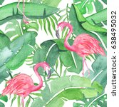 Tropical Leaves Watercolor...