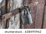the old lock on the barn ...   Shutterstock . vector #638495962