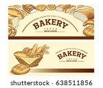 bakery food item bread ... | Shutterstock .eps vector #638511856