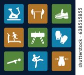 gym icons set. set of 9 gym... | Shutterstock .eps vector #638515855