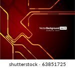 abstract retro technology... | Shutterstock .eps vector #63851725