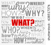 questions whose answers are... | Shutterstock .eps vector #638517376