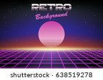 retro background 80s  sun or...   Shutterstock .eps vector #638519278