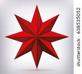 volume eight pointed red star ... | Shutterstock .eps vector #638535052