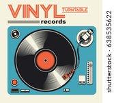 vinyl disk music illustration ... | Shutterstock .eps vector #638535622