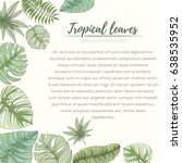 hand drawn tropical palm leaves ... | Shutterstock .eps vector #638535952