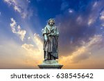 the beethoven monument on the... | Shutterstock . vector #638545642