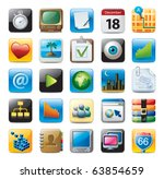 multimedia icons | Shutterstock .eps vector #63854659