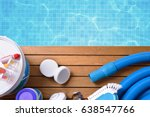 chemical products and tools for ... | Shutterstock . vector #638547766