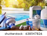 swimming pool service and... | Shutterstock . vector #638547826
