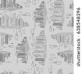 pattern urban line art. vector... | Shutterstock .eps vector #638548396