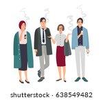 smoking room. different office... | Shutterstock .eps vector #638549482
