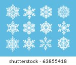 snowflakes | Shutterstock .eps vector #63855418