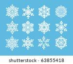 snowflakes | Shutterstock .eps vector #63855418